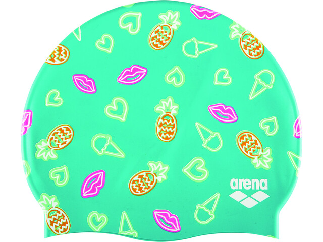 arena Print 2 Cap neon mint